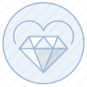 diamond, engagement, heart, love, marriage, valentine, wedding icon