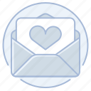 heart, letter, love, love letter, marriage, wedding icon