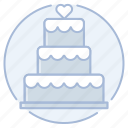 baker, bakery, cake, marriage, wedding, wedding cake icon