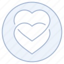 engagement, hearts, love, marriage, wedding icon