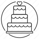 baker, bakery, cake, marriage, wedding icon