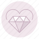 diamond, engagement, heart, love, marriage, wedding icon