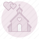 cathedral, ceremony, chapel, christian, church, marriage, wedding icon