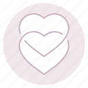 couple, hearts, love, marriage, valentine, wedding icon