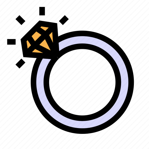 love, married, ring, romance, wedding icon