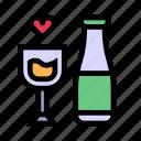love, married, romance, wedding, wine