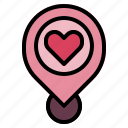 interface, love, pin, placeholder, signs, wedding icon