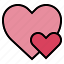 heart, like, love, shapes icon