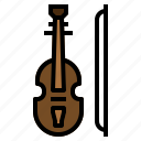 instrument, orchestra, string, violin icon