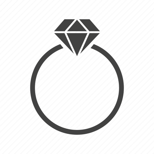 Diamond Engagement Gold Jewelry Love Ring Wedding Icon