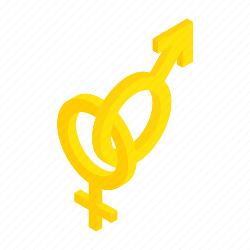 arrow, female, isometric, male, sex, sexual, signs icon