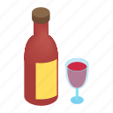 alcohol, art, bar, bottle, drink, glass, wine icon