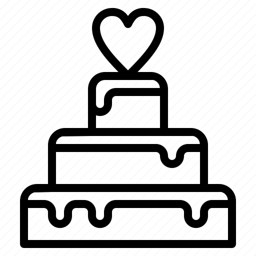 cake, love, wedding icon