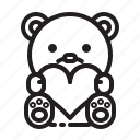 teddy, love, bear, valentine