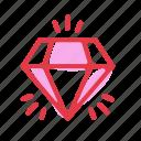diamond, jewelry, shine, wedding icon