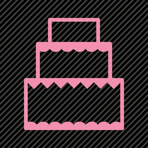 birthday, cake, cream, dessert, love, marriage, wedding icon