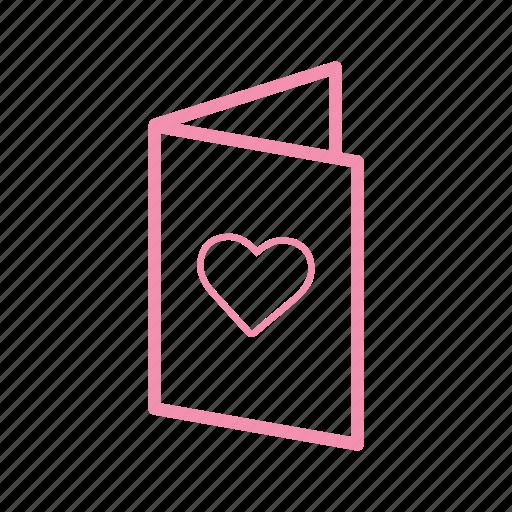 card2, heart, invitation, love, marriage, valentine, wedding icon