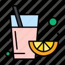 fruit, juice, orange icon