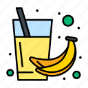 banana, drink, fruit, health, juice