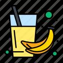 banana, drink, fruit, health, juice