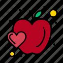 apple, food, fruit, heart
