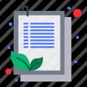 check, clipboard, leaf, list icon