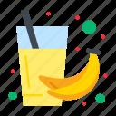 banana, drink, fruit, health, juice icon
