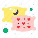pillow, relax, sleep icon