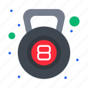bell, fitness, gym, kettle, weight icon