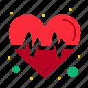 beat, heart, pulse, science icon