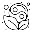 leaf, symbol, yang, yin
