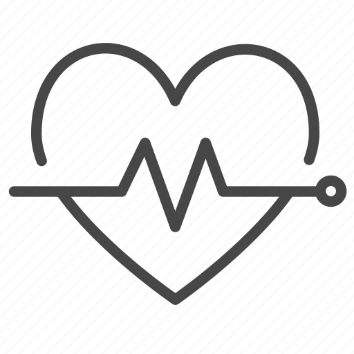 Wellness icon  Healthcare, healthy, heart rate, pulse, wellness icon