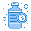 bottle, heart, medical, rx icon