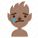 avatar, emoji, halloween, horror, sad, werewolf, wolf icon