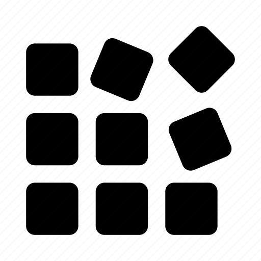 blocks, solution icon