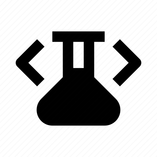 chemistry, code, coding, development, flask, lab, web icon