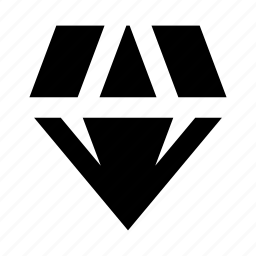 diamond, sketch icon