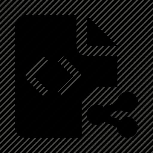 code, coding, development, file, programming, share, web icon