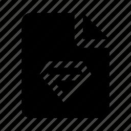 design, diamond, file, sketch icon