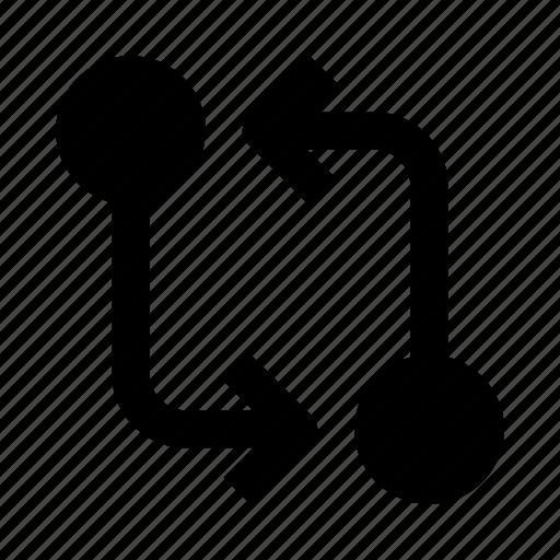 code, commit, compare, git, programming, push, svn icon