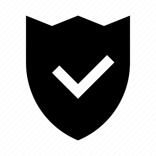 check, protection, secure, shield icon