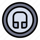 basic, earphone, headphone, ui