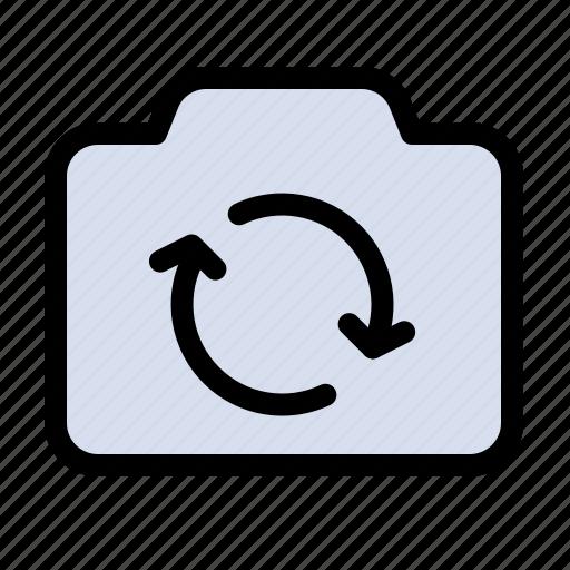 basic, camera, refresh, ui icon