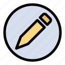 basic, pencil, text icon