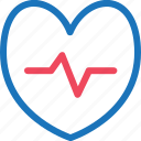 health, healthy, heart, medical, medicine, rate, statistic icon