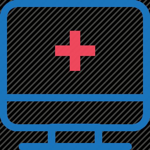 health, healthy, medical, medicine, monitor, screen icon