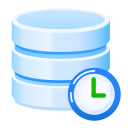 automatic, backups, clock, daily, scheduled, timer, web hosting icon