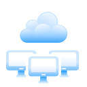 cloud, hosting, monitors, shared, shared cloud, web hosting icon