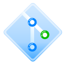 blue, git, glossy, green icon
