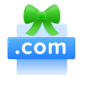 .com, domain, domain name, free, gift, included, present icon